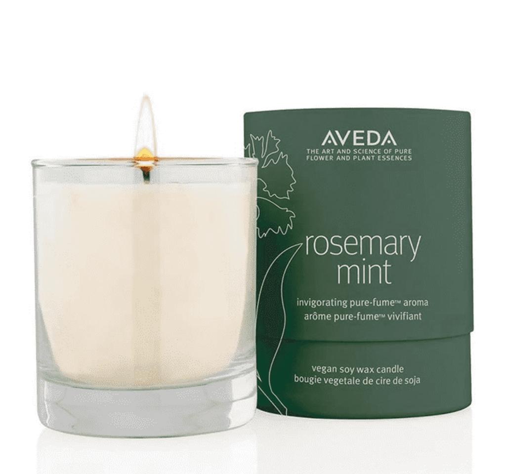 Aveda rosemary mint vegan soy wax candle