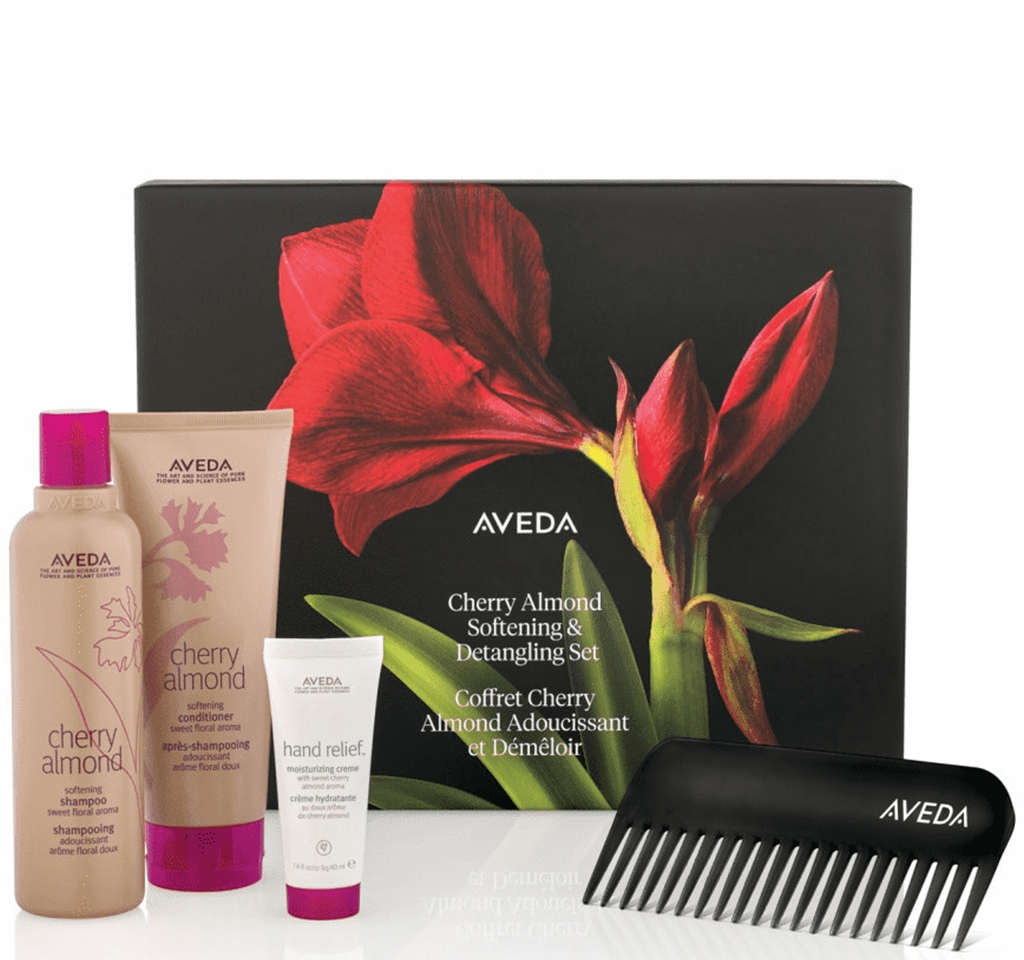 Aveda cherry almond softening & detangling set