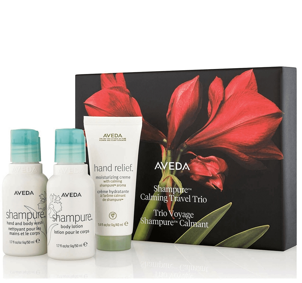 Aveda shampure calming travel trio gift set