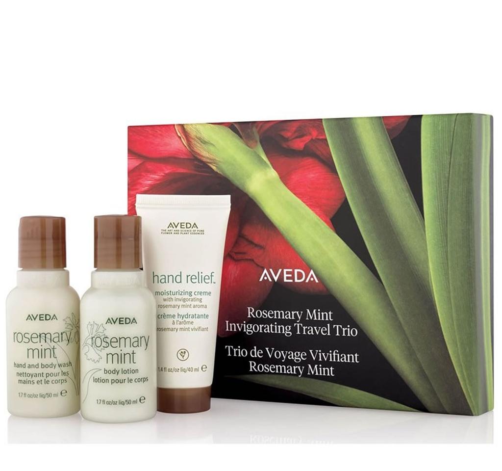 Aveda rosemary mint invigorating travel trio gift set