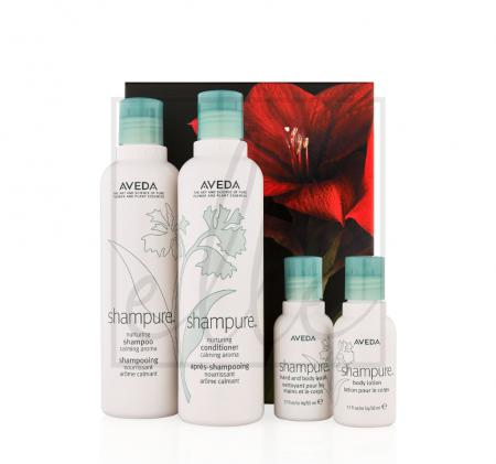 Aveda shampure nurturing hair and body care set
