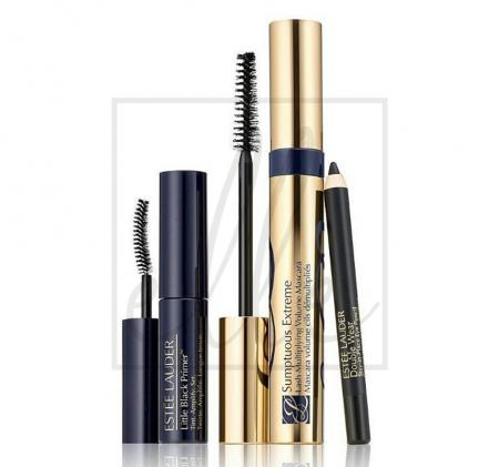 Sumptuous extreme mascara, primer & doublewear eye pencil set