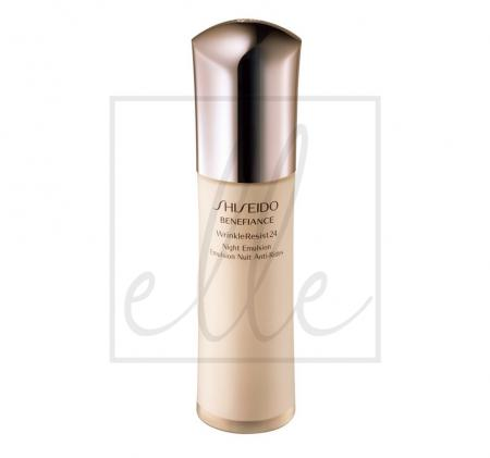 Shiseido benefiance wrinkleresist24 night emulsion - 75ml