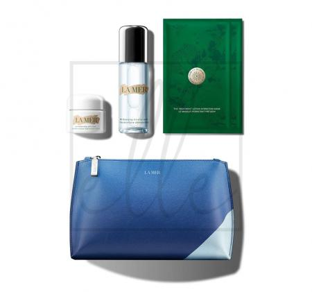 La mer the refreshing radiant collection gift set (micellar water - 100ml + treatment lotion mask - 2 sheet + soft cream - 30ml)
