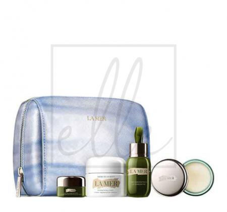La mer the soothing hydration collection (the concentrate - 15ml + the eye concentrate - 5ml + creme de la mer - 30ml + lip balm - 9g + cosmetic bag)