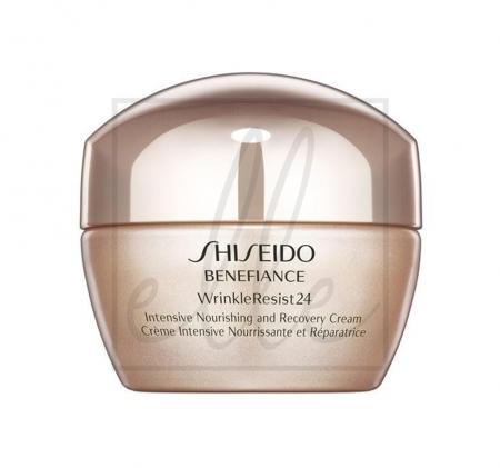 Shiseido benefiance wrinkleresist24 intensive nourishing & recovery cream - 50ml