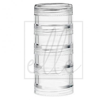 Stackable travel jars