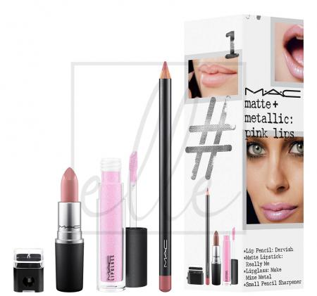 Instant artistry / matte + metallic: pink lips