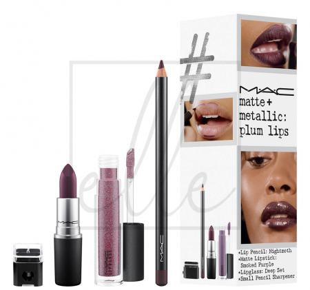 Instant artistry / matte + metallic: plum lips