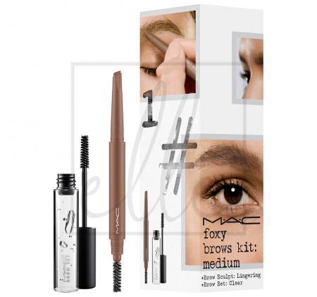 Instant artistry / foxy brows kit - medium