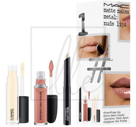 Instant artistry / matte makes metal: nude lips